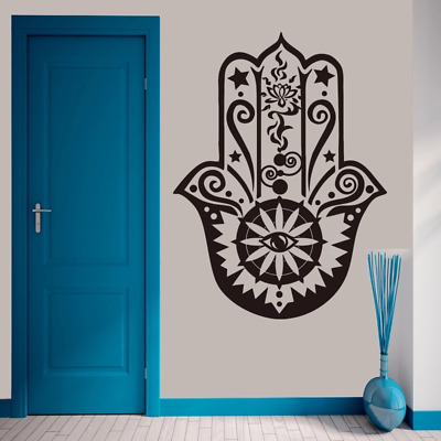 Wall Vinyl Decal Yoga Hamsa Eye Amulet Buddhism Home Interior Decor z4616