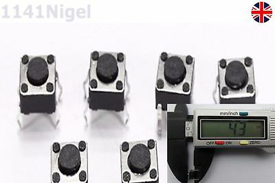 6x6x4.3mm SPST Small Mini Micro Momentary Tactile Push Button Switch ( x 2 - 20)