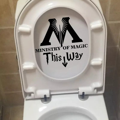 Ministry Of Magic Bathroom Wall Sticker Home Decor Toilet Decal Harry Potter Art