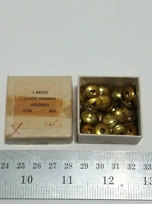 Vintage Clock Dome Brass Washers - Various Sizes - Square and Round holes