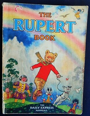 VINTAGE ORIGINAL 1948 RUPERT BEAR ANNUAL, UNSCRIBED and PRICE UNCLIPPED 4/-