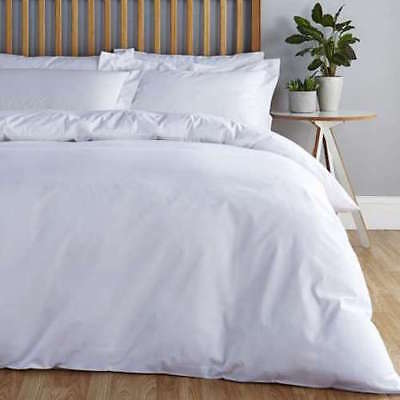 Non Iron Easy Care Percale Duvet Quilt Cover Set With Oxford Pillowcases All Siz