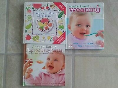 Annabel Karmel Baby feeding Book Bundle X 3