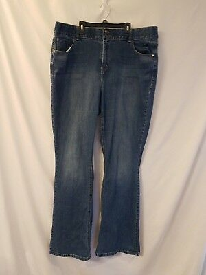 Lane Bryant womens Jeans Tighter Tummy Technology 24 Long Boot Cut Stretch