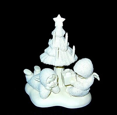 Snowbabies  Angels THANK YOU Christmas Tree Candles VINTAGE 1997 Department 56