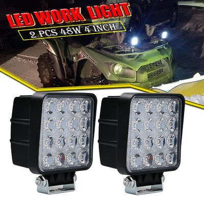 48W 4800LM Square LED Work Light Bar Spot Off-road Driving Car Truck Jeep UTE