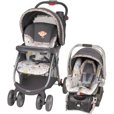 Baby Trend Envy Travel System Monkey Infant Toddler Stroller Car