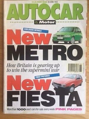 Autocar Magazine 30 june 1993 USED