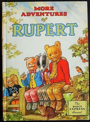 Vintage Original 1953 Rupert Bear Annual, Price Unclipped 4/-