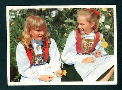 Maidens in the Costume of the Hardanger District. Norway. Uncirculated/Unused
