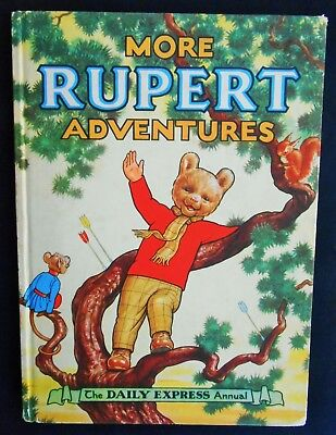 Vintage Original 1952 Rupert Bear Annual, Price Unclipped 5/-
