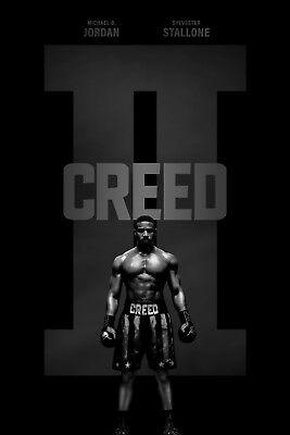 Creed II 2 Movie Poster Boxing Sports Rocky Sylvester Stallone A4-A3-A2-MAXI-632