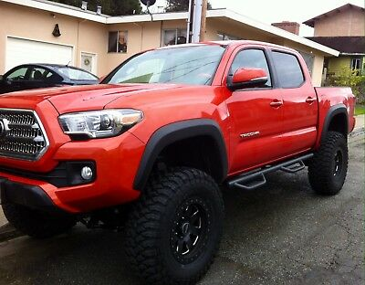 FOR 2005-2019 TOYOTA TACOMA DOUBLE Cab HOOP Running Boards Nerf Bars SIDE STEPS