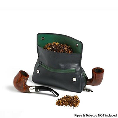 Peterson Avoco Blue Pipe and Tobacco 2 Combination Pouch Gift Boxed Leather 144