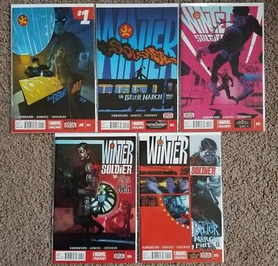 Winter Soldier: The Bitter March #1-5 1 2 3 4 5 (Complete Mini-Series) [Marvel]