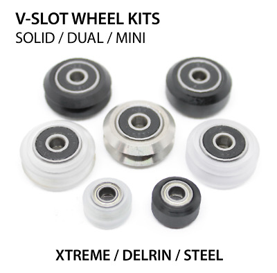 V-Slot V-Wheel Kits Xtreme / Delrin / Steel / Solid / Dual / Mini for DIY, CNC