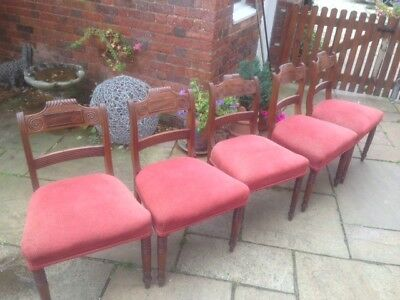 Antique Victorian Mahogany Dining Chairs (5nr)