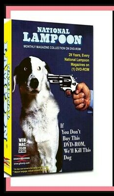 National Lampoon Magazine 1970-1998 246 issues in PDF format on custom case DVD