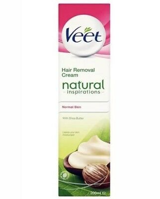 2x Veet Natural Inspirations Hair Removal Cream With Shea Butter 200ml