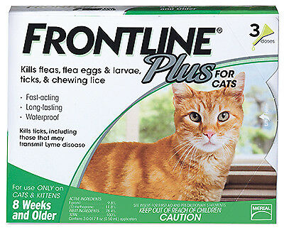 PREMIUM PET PRODUCTS Frontline Plus For Cats & Kittens, 3-Pk. 287410