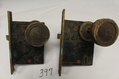 #397 – Lot of 4 Eastlake Door Knobs & Locksets Signed B L W, 19th C.