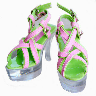 [wamami] 52#pink&green 1/3 SD DOD BJD Dollfie High Heel Synthetic Leather Shoes