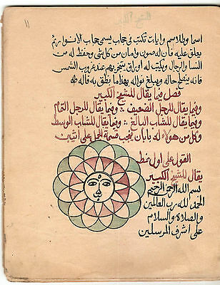 Fascinating Arabic Astrology Manuscript (Occult):
