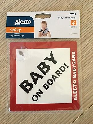 "Auto-Schild ""Baby on Board"" mit Saugnapf"