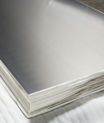 "16 Gauge 6"" x 12"" 304 Stainless Steel Sheet Plate 2B Finish"