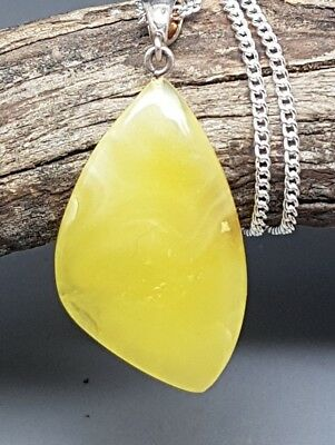 3,9 gr Genuine Natural Butterscotch Baltic Amber Pendant Necklace