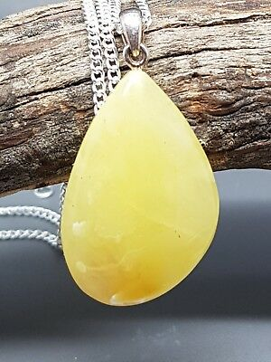 2,9 gr Genuine Natural Butterscotch Baltic Amber Pendant Necklace