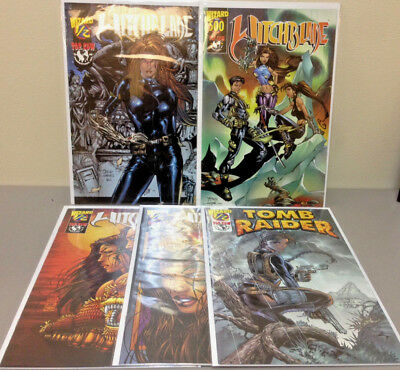 Lot of (5) WITCHBLADE and TOMB RAIDER Wizard 1/2 Issues with COA s Lara Croft+++