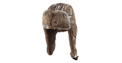 Mad Bomber Balaclavas Headwear, Real tree Extra with Brown Rabbit Fur, X-Large