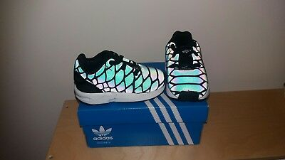6e65ff46b1da Adidas childrens light up shoes Infant UK 4. Kids ZX Flux Xeno Snake  Trainers