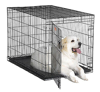 """MIDWEST METAL PRODUCTS Dog Training Crate, Black, 48""""L x 30""""W x 33""""H. 1548"""