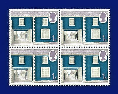 1970 SG817 1s Cottages Block (4) MNH Unmounted Mint asya