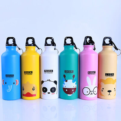 Lovely Kids Baby Outdoor Sports Bottle Cartoon Animal Pattern Water Bottle 500ml