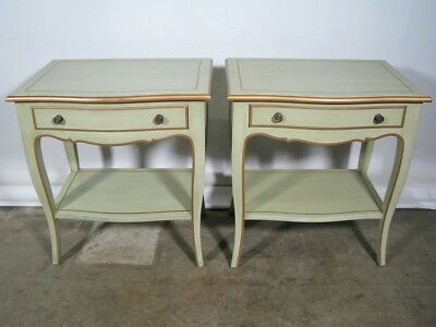 Pair of High End Mint Green Custom Nightstands By Julia Gray New York; Designer