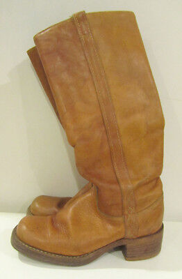 Vintage Tan Leather Campus Boots sz. 6 - Made in the USA - Frye? Dexter?