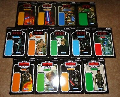 Star Wars Celebration SDCC Cardback proof set of 13 different unpunched cards B