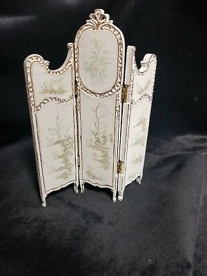 "MUSEUM QUALITY DOLLHOUSE FURNITURE 1:12 or 1"" Scale Folding Screen HAND PAINTED"