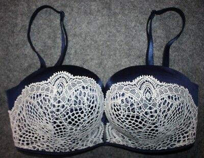 c8fd1d92b4 VICTORIAS SECRET VS Bombshell Add-2-Cups Bandeau Multi-Way Bra Black ...