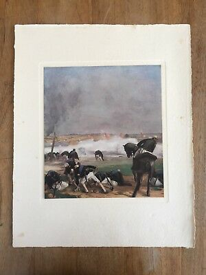 "c.1940's ""THE BATTLE OF PYONGYANG"" KANAYAMA HEIZÔ MEIJI PAINTING PRINT JAPAN"