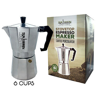 StoveTop Espresso Maker Coffee Makers Percolator Cuban Cafetera Cappuccino Latte
