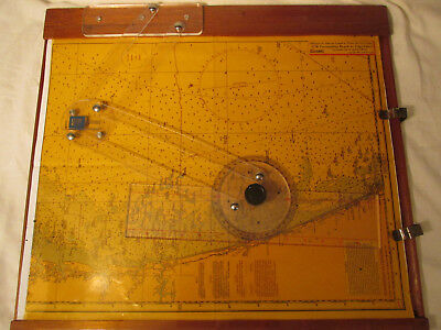 Vintage Bba Chart Kit Plotter And Cover Marine Sailing Navigation Analog Chart