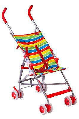 Red Kite Baby Light Weight Summer Stripe Pushchair Holiday Travel Buggy Stroller