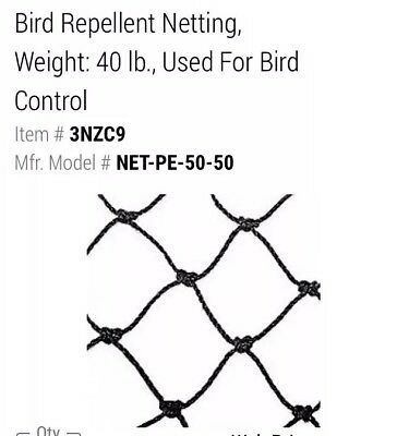 Bird Repellent Netting 50'x50'