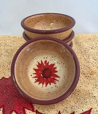 Pfaltzgraff Evening Sun Pinch Bowls Set of 4 Small Hand Painted Spice Cellar
