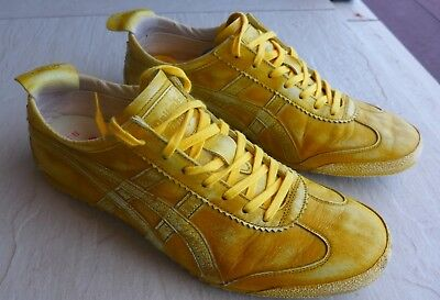 Asics Onitsuka Tiger Leather Limited Edition Yellow. Womens Size 39.5 EU