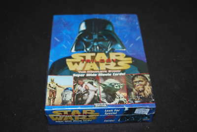1997 Topps Star Wars Trilogy Super Wide Movie Cards Sealed Box Wb1221